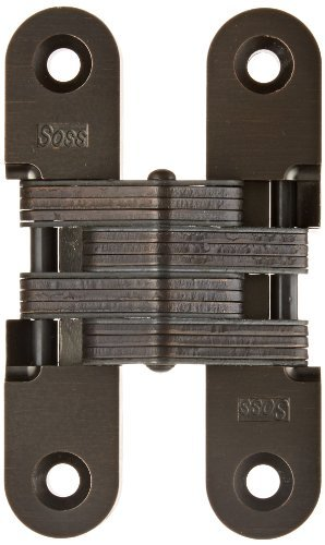 SOSS 216 Zinc Invisible Hinge with Holes for Wood or Metal Applications, Oil Rubbed Bronze Exterior Finish by SOSS by SOSS