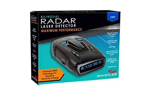 Amazon.com: Whistler CR97 - Maximum Performance Radar Laser MultaRadar Detector/w GPS, Voice Alerts: Car Electronics