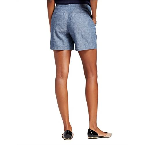 "7 Encounter Women's Low Rise Casual Stretch Cotton Chino 5"" Shorts"