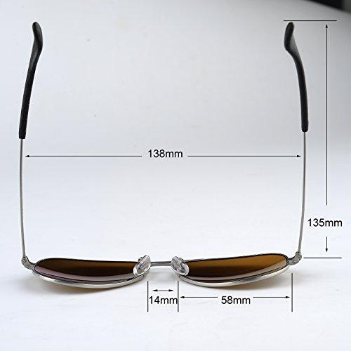a37531ef1bf Italy made pilot titanium sunglasses w. corning natural glass ...