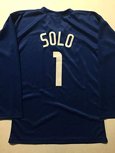 Unsigned Hope Solo Team USA World Cup Goalie Blue Custom Soccer Jersey Size XL No Brands/Logos