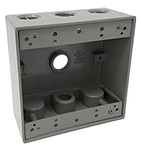 Sealproof 2 gang 3 1 2 holes weatherproof - Sealing exterior electrical boxes ...