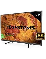 Téléviseur 50 Pouces LED Ultra HD 4K Smart TD Systems K50DLY8US. Résolution 3840 x 2160, 3X HDMI, VGA, 2X USB, Smart TV.
