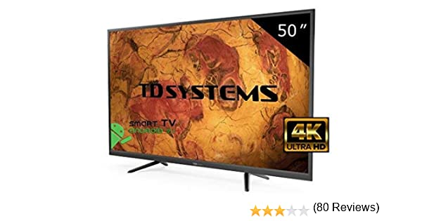 Televisor Led 50 Pulgadas Ultra HD 4K Smart TD Systems K50DLY8US ...