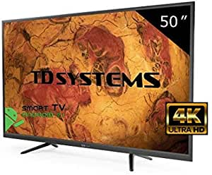 Televisor Led 50 Pulgadas Ultra HD 4K Smart TD Systems K50DLY8US. Resolución 3840 x 2160, 3X HDMI, VGA, 2X USB, Smart TV.: Amazon.es: Electrónica