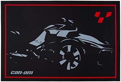 Can-Am On-Road Door Mat Rug, 23 x 36 , Black