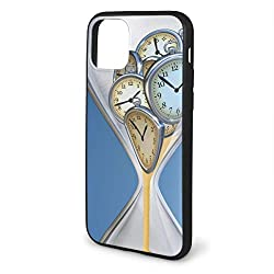 Shockproof Phone Case Compatible with iPhone 11 6.1 Series 2019, Hourglass Time Clocks with Sand Decorations for Home A Vintage Design