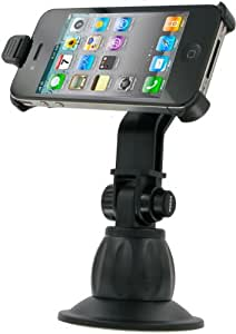 Kit Mobile IP4HOLSUK - Soporte con ventosa para iPhone 4