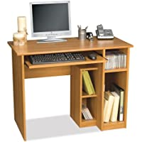 Computer Workstation w Desk & Open Cubbies - Basic