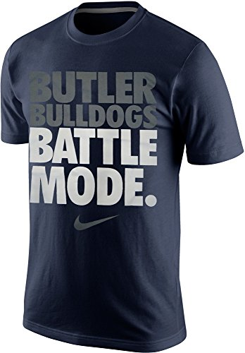 Mens Navy Blue Bull (Nike Butler Bulldogs Battle Mode Men's T-Shirt (Large, Navy)