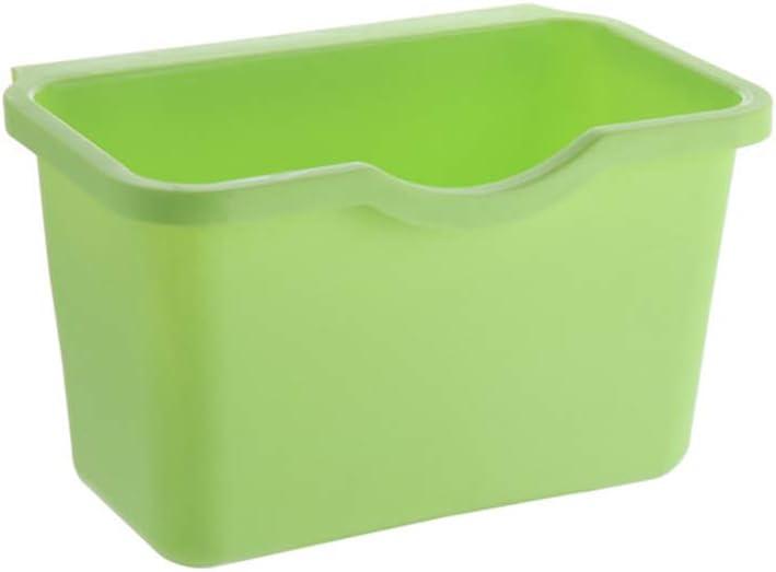 WBTY Trash Can Kitchen Cabinet Door Plastic Basket Hanging Trash Can Waste Bin Garbage Bowl Box