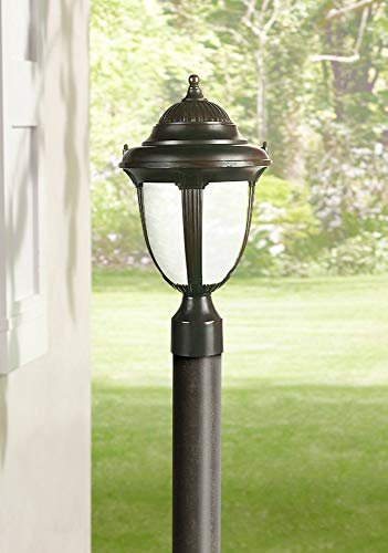Casa Sorrento Traditional Outdoor Post Light Fixture Bronze 16 3/4