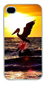 iphone 4 case amazing Sea Stork PC White for Apple iPhone 4/4S