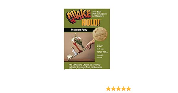 Quakehold! 88111 Museum Putty Neutral. Premium Pack