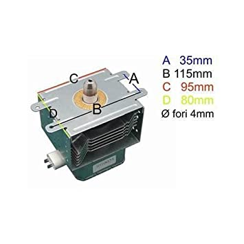 Magnetron para horno a microondas DeLonghi Samsung om75p Whirlpool Smeg AEG