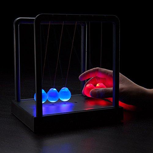 Retro Illuminating Newtons Cradle Desktop Executive Gadget Toy Lamp - Boxed