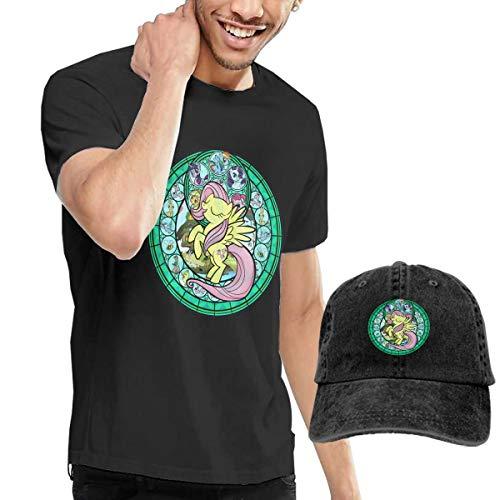 LightCa Fluttershy My Little Pony T Shirts + Cowboy Hat for Adult Black 29]()