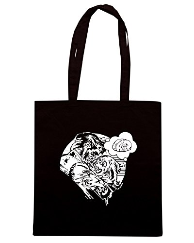T-Shirtshock - Bolsa para la compra FUN0102 05 02 2013 Undead Love SHIRT det Negro