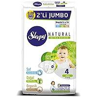 Sleepy Natural 2'li Jumbo Bebek Bezi, 4 Beden, Maxi, 60x4