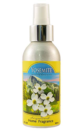 Yosemite National Park Wildflower Home Fragrance Room Spray - The Natural Scent of Dogwood Wildflowers