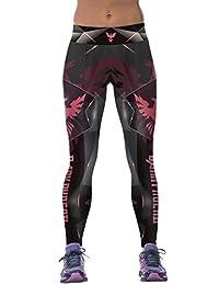 Ninimour-Womens Strechy 3D Digital Print Tight Stretchy Sports Pants Leggings