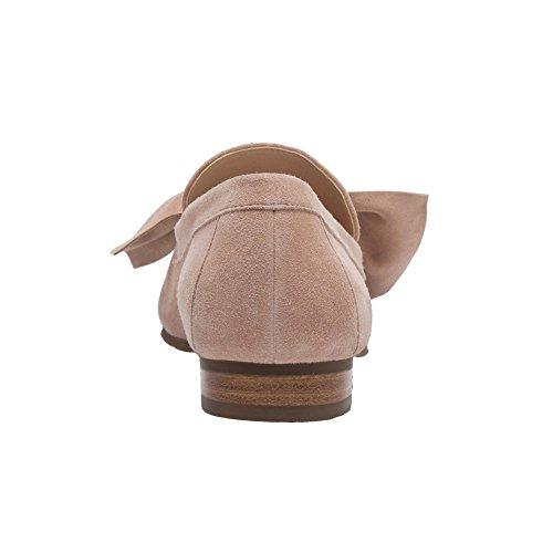 Pic / Pay Eden - Dames Boog Knoop Versierd Loafers - Suède Leren Comfortabele Platte Instap Schoenen Blozen Suede
