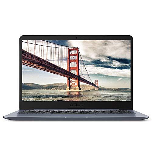 "2019 Asus E406 14"" Thin and Light Premium Flagship Laptop Computer, Intel Celeron N3060 up to 2.48GHz, 4GB RAM, 64GB eMMC, 802.11AC WiFi, Bluetooth 4.1, HDMI, USB 3.0, Windows 10 Home"