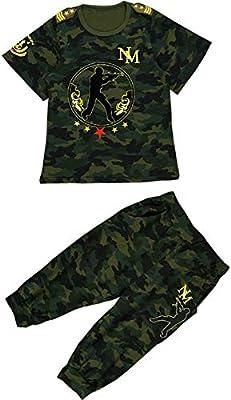 CASUALBOYS Camiseta para Niños Camuflaje Chándal 2 Piezas Cool ...