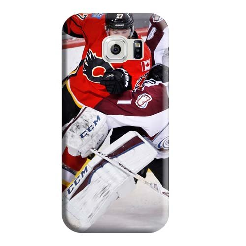 fan products of Calgary Flames Pattern Style Phone Carrying Cover Skin Collectibles Samsung Galaxy S6