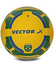 Vector X Brasil Rubber Moulded Football, Size 3, yellow-green