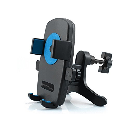 Universal Portable Air Vent Holder Smartphone Car Mount Phone Cradle Holder for iPhone Android Cell Phones /GPS /MP3 Player, Blue