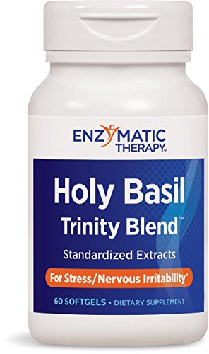 Enzymatic Therapy Basil Holy - Enzymatic Therapy Holy Basil Trinity BlendTM For Stress/Nervous Irritability, 60 Count