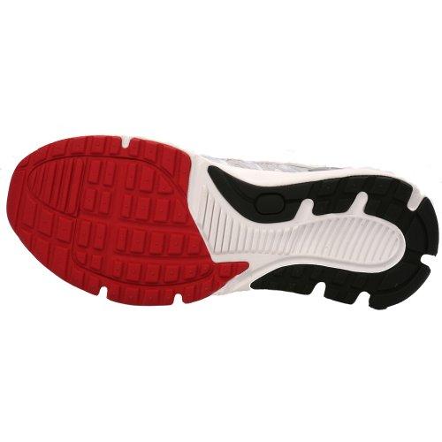Hylan Irunner Lincoln Mens Terapeutisk Atletisk Extra Djup Sko Läder-och-mesh Spetsar - Vit Och Röd -8,5-medium (d) Vit / Röd Spets Oss Män