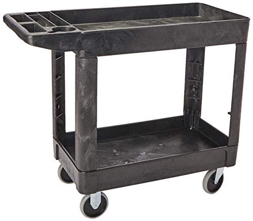 Rubbermaid Commercial Products Heavy Duty 2Shelf Utility/Service Carts with 500 lbs Capacities