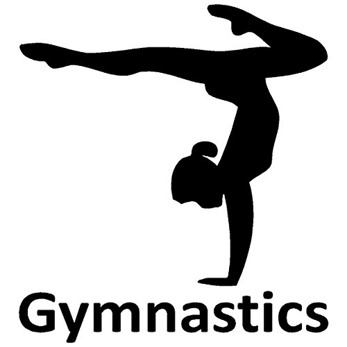 gymnastics car decal - 3