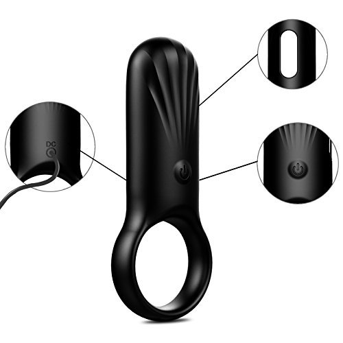 Vibrating Cock Ring - Tracy\'s Dog Silicone 7 Speed Waterproof Rechargeable Penis Ring Vibrator Sex Toy for Male or Couples