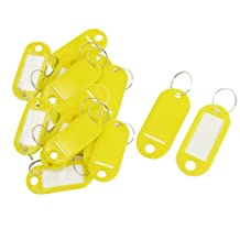 20pcs Key ID Tags Name Card Labels Keyring Keychain Yellow