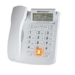 Amazon Com Emerson Em300wh Big Button Phone For Elderly