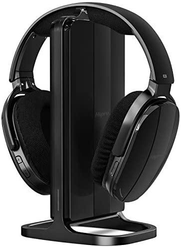 HSPRO Wireless TV Headphones, Over Ear Headsets with Wireless 2.4GHz RF Transmitter Charging Dock, Rechargeable Digital Stereo Headsets for Watching TV Computer Games, 100ft Wireless Range