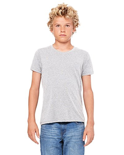 Product of Brand Bella + Canvas Youth Jersey Short-Sleeve T-Shirt - Athletic Heather - M - (Instant Savings of 5% & More)
