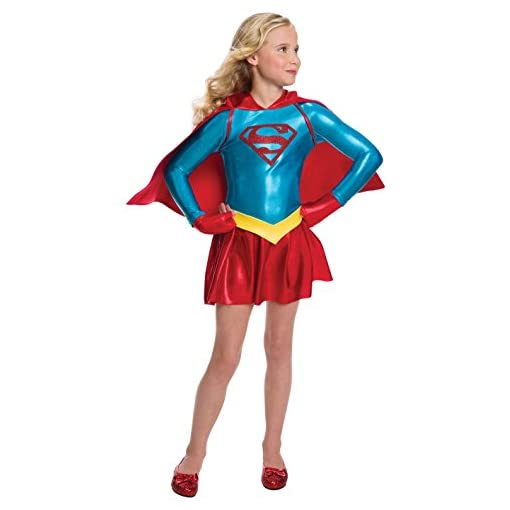 Rubie's Costume Girls DC Comics Supergirl Dress Costume, Small, Multicolor