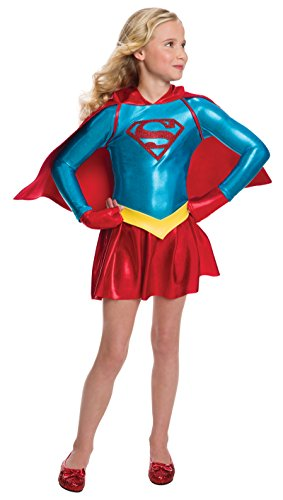 Rubie's Costume Girls DC Comics Supergirl Dress Costume, Large, Multicolor