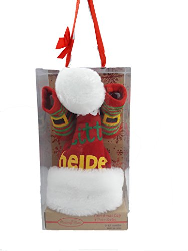Rising Star Santa's Little Helper Cap and Socks (Santas Helper Gift Box)