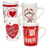 Valentine's Day Stoneware Valentine's Mugs, 15 oz