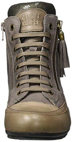 Donna Cooper Sneaker Taupe a Alto Vint Candice Grigio Collo Camoscio 6w0q1x1