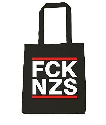 Baumwolltasche Fuck FCK Tasche Politik Nazis NZS Black Protest Politik FCK nZqx0UwUT