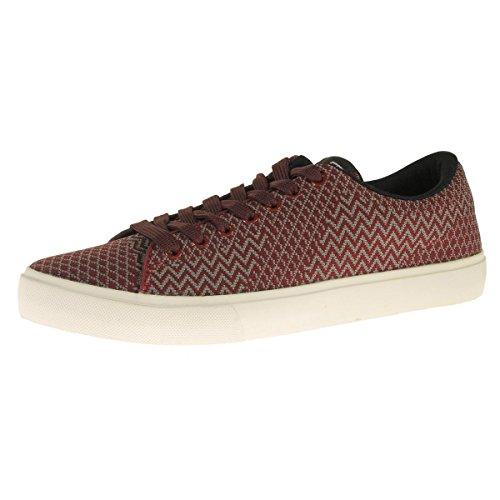 Steve Madden Mens Moirai Woven Chevron Fashion Sneakers Red 8 Medium (D) FkziUm