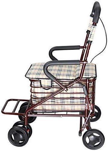 La movilidad Andador plegable Walker cesta de la compra con el ...