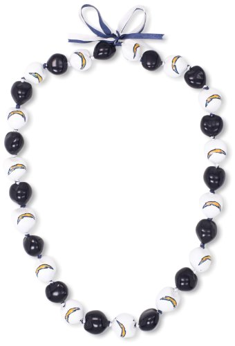 (NFL San Diego Chargers Go Nuts Kukui Nut Lei Necklace)