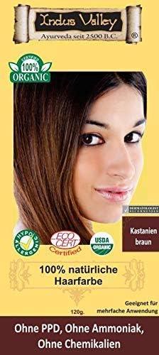 IndoNatura Indus Valley - Tinte para el cabello 100% natural, castaño